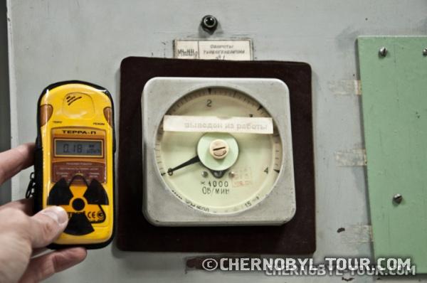 Блочный щит управления реактором ЧАЭС